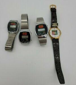 Lot of 4 Vintage 1980s Wrist Watch Oliver Tractor Super 55 Emblem