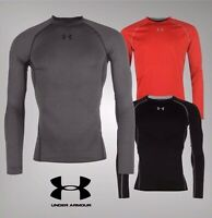 Mens Under Armour HeatGear Core Long Sleeve Baselayer Top Sizes from S to XXL