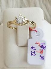 SOLID 18K Japan Gold Engagement Ring - Size 7 /  2.2g