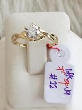 SOLID 18K Japan Gold Engagement Ring - Size 7 /  2.2g