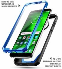 Case For Motorola Moto G6 POETIC【Guardian】Built-in-Screen Protector Case Blue