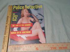 Police Detective Magazine 1957   Crime Criminals  Sex  Fake Diamond Theft & more