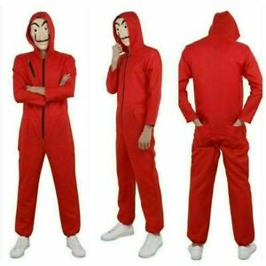 Salvador Dali Money Heist The House of Paper Cosplay Costume Jumpsuit Adult Kids