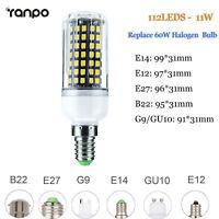 5w 7w 9w led bulb e27 e14 2835 smd lamp warm white corn light with cover ebay. Black Bedroom Furniture Sets. Home Design Ideas