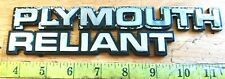 PLYMOUTH RELIANT LATE 80'S EMBLEM SET 4422172, 43288  {1415}