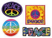 Peace sign hippie boho flower hippy Logo Emblem t shirts Lot 4 iron on Patches