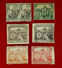 {SPAIN Fiscal/ Tax REVENUES< Exportacion< 7 Mint &Used< F-VF< Scarce Offer!}