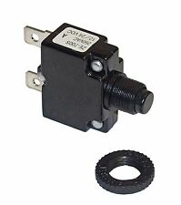 Miniature Push Button 3 Amp Circuit Breaker for DC or AC Circuits