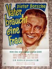 VATER BRAUCHT EINE FRAU * LEUWERIK, BORSCHE, GRIMM / LITTER - A1-Filmposter 1952