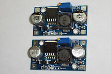 2 PCS LM2596 DC-DC ADJUSTABLE STEP- DOWN POWER MODULE WITH LED POWER INDICATOR !