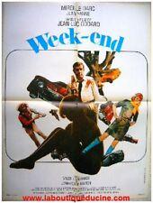 WEEK END Affiche Cinéma / Movie Poster JEAN LUC GODARD JEAN YANNE MIREILLE DARC