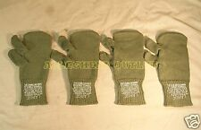 2 Pair Large Military WOOL MITTEN INSERTS w/ Trigger Finger USED Free Shipping