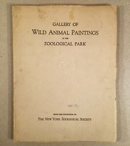 New York Bronx Zoo 1930 GALLERY OF WILD ANIMAL PAINTINGS IN THE ZOOLOGICAL PARK