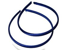 Twin Pack 1cm Royal Blue Satin Headbands