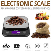 Kitchen Scale Waterproof Rechargeable Coffee Drip Scale Jewelry Digital Scale ON