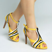 Women T-Strap Slim High Heels Peep Toe Hollow Out Buckle Casual Fashion Shoes