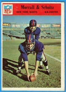 1966 Philadelphia #127 Morral & Scholtz (VG-EX) New York Giants