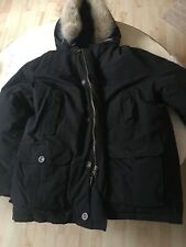 WOOLRICH Arctic Parka Duck Down With Coyote Fur Hood Men's XXL Color Is Black