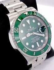 Rolex Submariner GREEN HULK 116610LV Stainless Steel Ceramic Bezel *MINT*