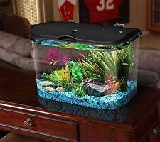 Big Fish Tank Aquarium Kit LED Light Freshwater Fish Tank Condo 5 Gallon Filter