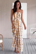 UK Womens Playsuit Novelty Ladies Beach Sleeveless Romper Loose Culotte Jumpsuit