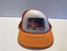 Key West Florida Trucker Hat Foam Mesh Ouray Orange Snap Back