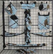 True Timber Blue * 15 PC Sugar Glider Cage set * Rat * double layer Fleece