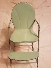 Vintage Metal Doll Hi-Chair 18 Inches Tall Original Condition