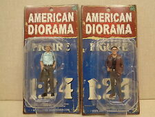 AMERICAN DIORAMA 1:24 SCALE POLICE DETECTIVES, SET OF FOUR, PAINTED, NEW IN BOX