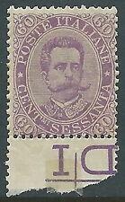 1889 REGNO UMBERTO I 60 CENT MNH ** - Y137