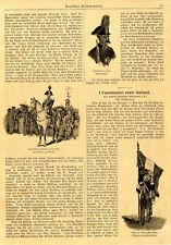 Carabiniere italiani Guardia d'Onore Ufficiale porta-bandiera immagini di 1895