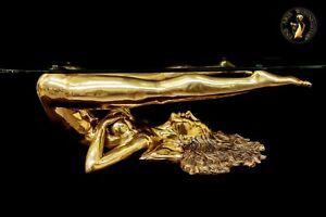FINE ARTS Wohnkultur Bronze Sculpture Figure Rubina Coffee Table Erotic Woman