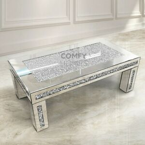 Mirrored Crushed Crystal Coffee Table - FREE DELIVERY AVAILABLE!