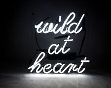 "10""x10"" Wild At Heart Neon Sign Light Beer Bar Wall Poster Real Glass Tube Gift"