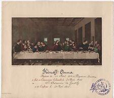 Certificat de communion solennelle 1935 St Saturnin de Gentilly Diocèse de Paris