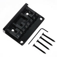 Black 4 String Bass Bridge For Electirc Guitar L Shape Saddle Parts Spacing 18mm