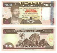 UNC eSwatini SWAZILAND Tyvek Commemorative 100 Emalangeni (2004) P-33