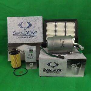 GENUINE SSANGYONG STAVIC MPV A100 2.0 L TD FILTER PACK (OIL + AIR + FUEL FILTER)