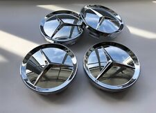 4x CHROME 64 mm Outer 55mm Inner Centre Caps . Fits Mercedes - Benz