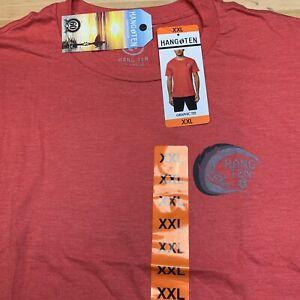 Mens  Graphic Logo Hang Ten RED HeatherShort Sleeve T-Shirt Tee 2XL XXL