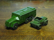 Lot Dinky Toys England N° 673 + 677 - Armoured Command Vehicle + Scout Car