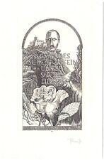 HEINRICH PREUSS: Exlibris für I. + N. Nechwatal, Rilke: Niemandes Schlaf zu sein