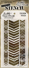 Tim Holtz Stampers Anonymous CHEVRON Stencil  THS024  new