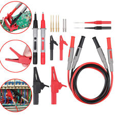 Electronic Alligator Clip Clamps Multimeter Test Lead Kit Probe Tester Leads Set