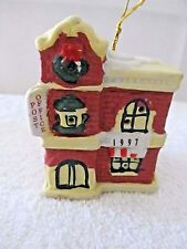 1997 Badcock Collectible Post Office Porcelain Christmas Bell Dated Ornament!