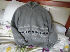 BOYS DESIGNER GREY THICK LINED CARDIGAN JACKET BY REPLAY AGED 10-11 COST £100.00