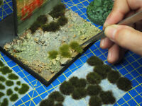 Vallejo Scenery Range of Miniature Tufts for Scale Models Terrains and Dioramas