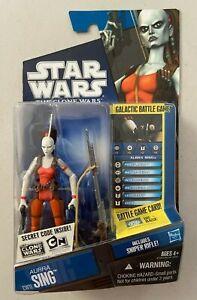 "Star Wars 3 3/4"" Clone Wars Cartoon AURRA SING Action Figure CW11 TVC MOC"