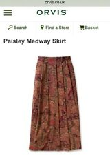 Orvis Paisley Medway Long Skirt With Pockets Size UK 10 US 6