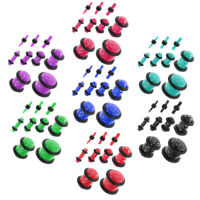 18Pcs Acrylic Double Flared Saddle Ear Tunnels Plug Expander Stretcher Gauge